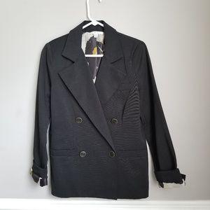 CAbi Lux Tuxe one button Black Blazer #987